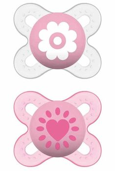 MAM Start Silicone Dummies Dummy Soother for Premature and Newborn Girls Pack of 2 for Ages 0 - 2 Months - Discount-everything Funny Pacifiers, Baby Pacifiers, Baby Girl Fall, Baby Binky, Premature Baby, Baby Must Haves, Little Girl Outfits, Twin Babies, Baby Bottles