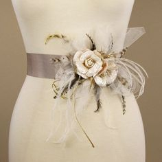 Bridal Sash Wedding Dress Belt Vintage by EricaElizabethDesign, $95.00