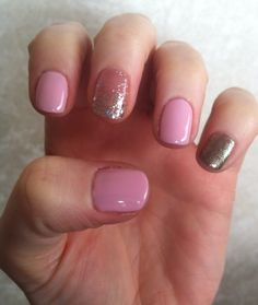Pretty pink summer nails