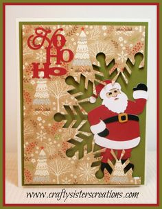 Santa Claus is Coming using Cricut Quilted Christmas
