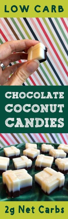 This recipe for Low Carb Chocolate Coconut Candies is Low Carb, Keto, Paleo, Atkins, THM, LCHF, Banting, Sugar Free and Gluten Free. It's to die for.