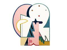 wool Banana Moon rug by Dominykas Gutauskas for design company Jot Jot Lounge Rug, Style Lounge, Hall Carpet, Rugs On Carpet, Carpets, Wool Area Rugs, Wool Rug, Banana Moon, Morrocan Rug