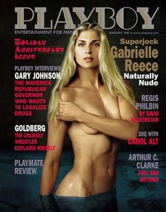 Playboy magazine cover January 2001