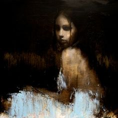 Mark Demsteader, Study for Shallow Waters, Oil on Board,15ins x 15ins