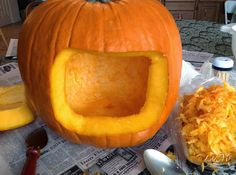 LydMc: Sweet Roasted Pumpkin Seeds & One Foxy Pumpkin ... Cool Trick: Cut the back out of your pumpkin instead of the top so you don't get burned putting in the candle!