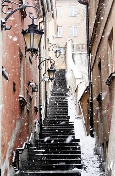 Winter Night Photography | STAIRS AND STAIRCASES