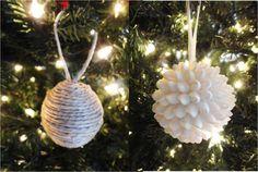 Decorazioni Shabby Chic per l'albero di Natale - Palle di Natale bianche