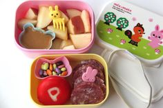 Bento Lunch Ideas: Week 1 (Smashed Peas and Carrots) Bento Box, Lunch Box, Creative School Lunches, Babybel Cheese, Apple W, Chocolate Covered, Kids Meals, Lunch Ideas, Carrots
