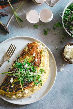 With it's light and fluffy texture, this spring omelette souffle would make a perfect special brunch dish for Mother's Day.