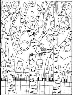 RUG HOOKING PAPER PATTERN Checkered Town FOLK ART PRIM Abstract Karla Gerard in Crafts, Home Arts & Crafts, Rug Making | eBay