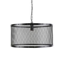 Hängeleuchte Industrial-Stil  im aus Metallgitter, D 55 cm, schwarz