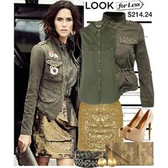 Look for Less: Military Metallic Style @AllyLinden #womens #fashion #bargainhunter