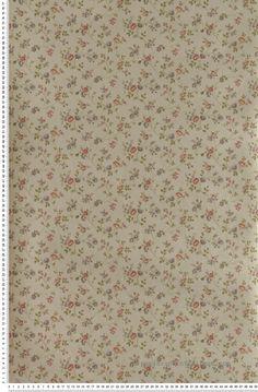 Fleurs cottage doré - Papier peint Lutèce