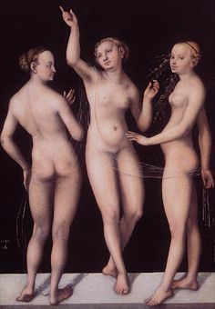 The Three Graces,Lucas Cranach the Elder, Nelson-Atkins Museum of Art, Kansas City