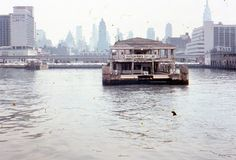 35mm Slide Hudson River Day Line Dock New York City 1960s