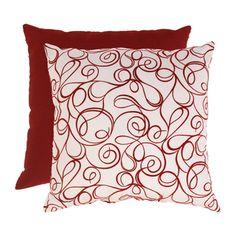 Flocked Scroll 23-inch Floor Pillow | Overstock.com