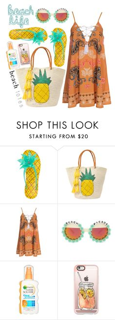 """life is a beach"" by gold-candle23 ❤ liked on Polyvore featuring Kate Spade, Sensi Studio, Kiss The Sky, Rad+Refined, Casetify and beachtotes"
