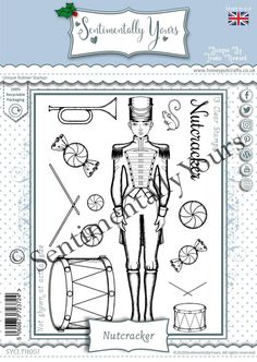 Trudie Howard Sentimentally Yours A6 Stamp Set - Nutcracker Stamp, Stamps