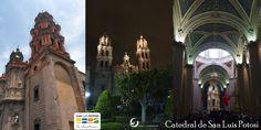 Catedral en San Luis Potosí.  De día, en la noche y en el interior...
