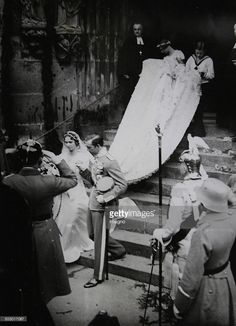 Royal Wedding between Prince Gustav Adolf of Sweden (the eldest son of Crown Prince Gustav VI. Adolf) and Princess Sibylla of Saxe-Coburg-Gotha in the main church St. Moritz, Coburg. 20 Oktober 1932. Photograph. (Photo by Austrian Archives/Imagno/Getty Images)