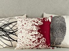 Forensic pillows- kind of creepy but cool