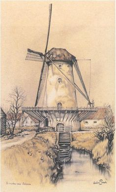 Molen in Oskam, Anton Pieck