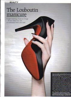 Louboutin manicure....wow.