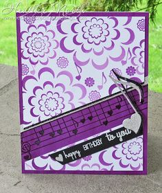 Heather created this purple beauty using our Loving Thoughts, Love Notes stamps and Heart Note Fri-Dies. www.cas-ualfridaysstamps.com #casfridays #handmade