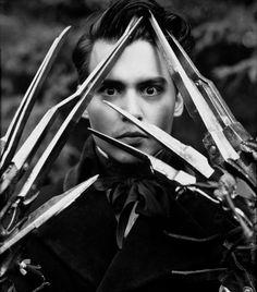 Johnny Depp as Edward Scissorhands.