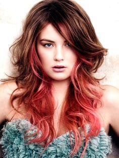 cool Hair Colour Streaks Fashion from Runway