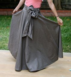 Make a Maxi Skirt From a Bed Sheet - Mabey She Made It