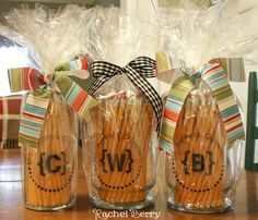 First Day of School Teacher Gift Idea - I'm definitely doing this for my boys' teachers.  Teachers love supplies!
