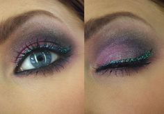 glitter liner with purple