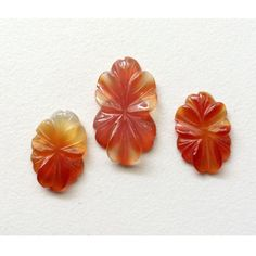 Red Onyx Natural Flowers Hand Carved Red by gemsforjewels on Etsy