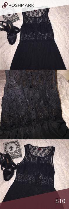 Black mini lace Lace Dress Size MEDUIM Black mini lace Lace Dress Size MEDUIM brand Lush Lush Dresses Mini