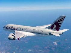 Qatar Airways se pose en Airbus A380 à Sydney