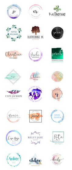 Watercolor Logo templates