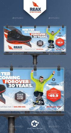Sport Shop Billboard Templates — PSD Template #fun #products • Download ➝ https://graphicriver.net/item/sport-shop-billboard-templates/18457918?ref=pxcr