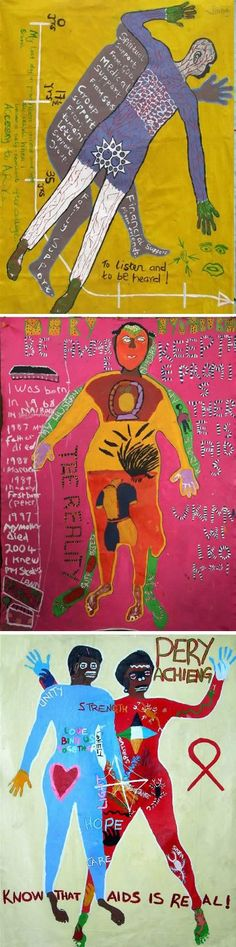 Body Mapping is a creative therapeutic tool that brings together bodily experience and visual artistic expression. In its basic form it involves drawing (or having drawn) one's body outline onto a large surface and using colours, pictures, symbols and words to represent experiences lived through the body.