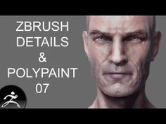 Zbrush Tutorial: Head Detail and Polypainting 07