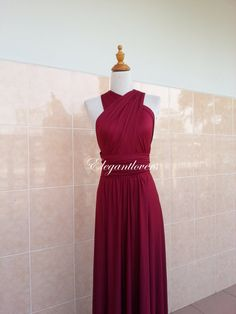 Check out this item in my Etsy shop https://www.etsy.com/uk/listing/187459404/wedding-dress-maroon-bridesmaid-dress