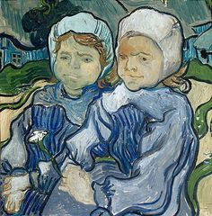 Title: Two Little Girls, 1890  Artist: Vincent van Gogh  Location: Musee d'Orsay Paris France