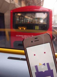 On the sweet Double-Decker Bus.  Warren Street / London, UK