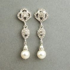 Wedding earrings from luxedeluxe on Etsy