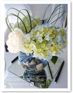 hydrangea outdoor centerpiece ideas - Google Search