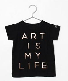 ART IS MY LIFE Tシャツ(Tシャツ/カットソー)|GROOVY COLORS(グルービーカラーズ)のファッション通販 - ZOZOTOWN - Comechatto & Closet