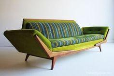 vintage yellow couch dech asseior pinterest yellow couch rh pinterest com green modern leather sofa modern green fabric sofa
