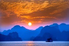 Perfect sunsets in #Vietnam