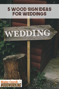 Brighten up your wedding decorations with these five wooden sign ideas for wedding events. Wood Projects That Sell, Woodworking Projects That Sell, Diy Wood Projects, Woodworking Crafts, Wood Crafts, Woodworking Plans, Diy And Crafts, Welcome Wood Sign, Diy Wood Signs