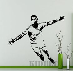Cristiano Ronaldo Wall Stickers Sports Soccer Players vinyl stickers home interior decoration high quality free shipping